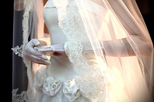 花嫁 指先