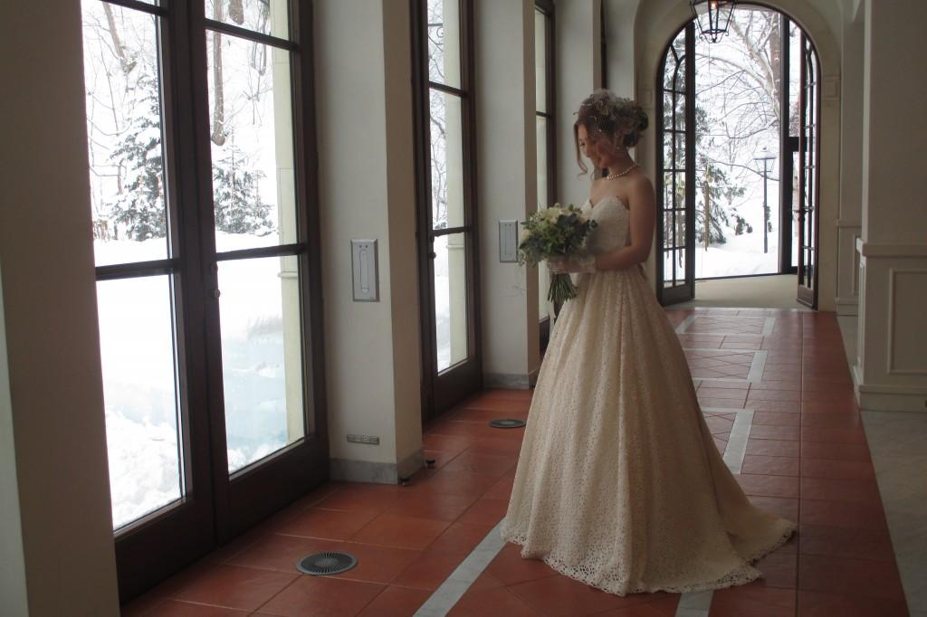 グランマニエのウエディングドレス ジャルダン・ドゥ・ボヌールにてのお写真