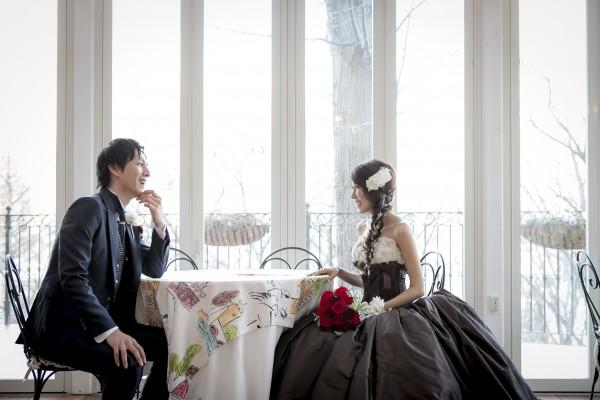 グランマニエのカラードレス|シルクタフタ|ハリのある素材