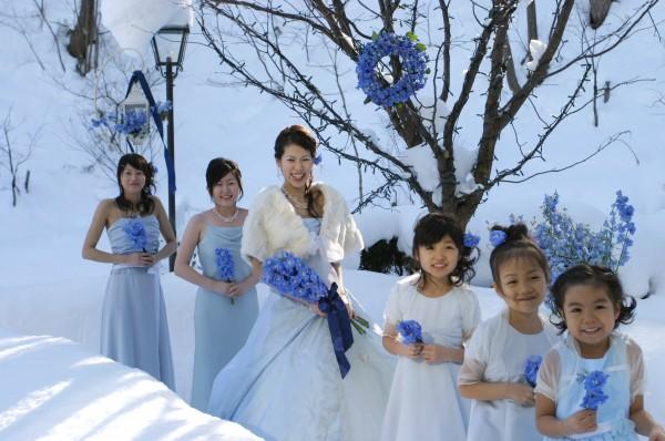 冬の結婚式|ジャルダン・ドゥ・ボヌール