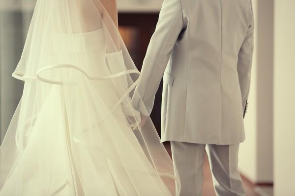 グランマニエウェディングドレス ミカドシルク ベール