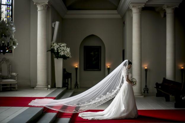 マリアベール ロング グランマニエのウエディングドレス