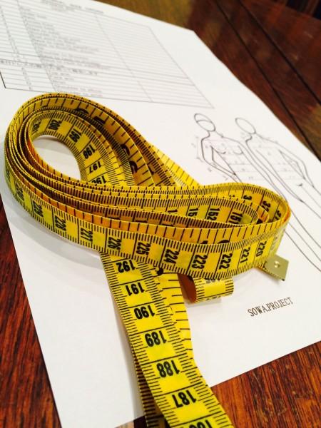 ウエディングドレス|パターンサイズ計測