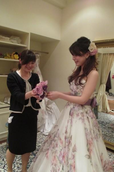 グランマニエのカラードレス|アストリッド|小物あわせ