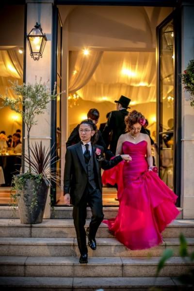 グランマニエのカラードレス マーメイドライン