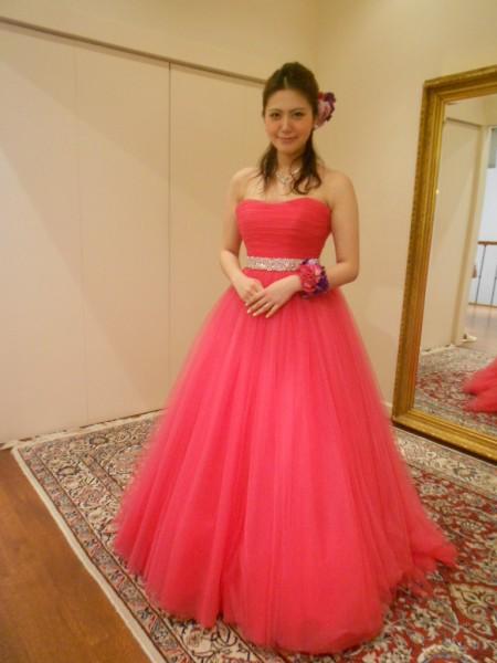 チェリーピンク|グランマニエのカラードレス