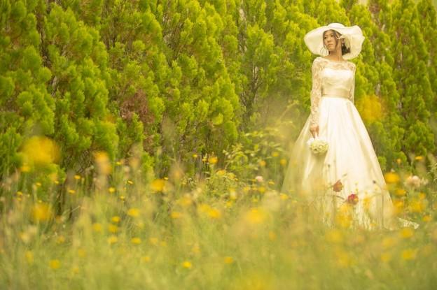 グランマニエウエディングドレス|ガーデン