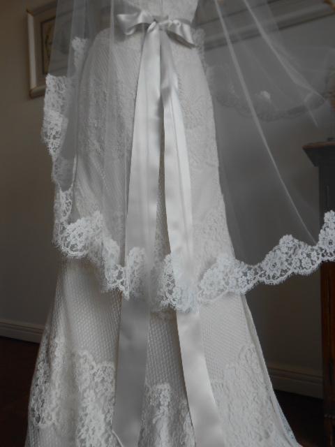 グランマニエのウエディングドレス|レースベール