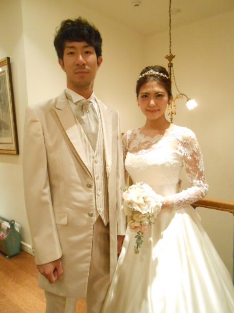 グランマニエのウエディングドレス タキシード