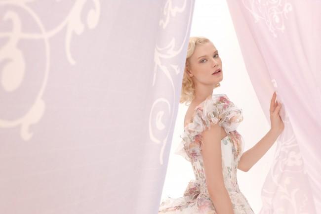 グランマニエのカラードレス|ワンショルダードレス
