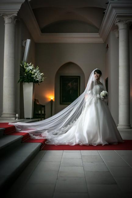 グランマニエのウエディングドレス|キャロル|ローズガーデンクライスト教会