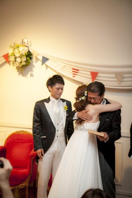 グランマニエのウエディングドレス|新婦・父|結婚式