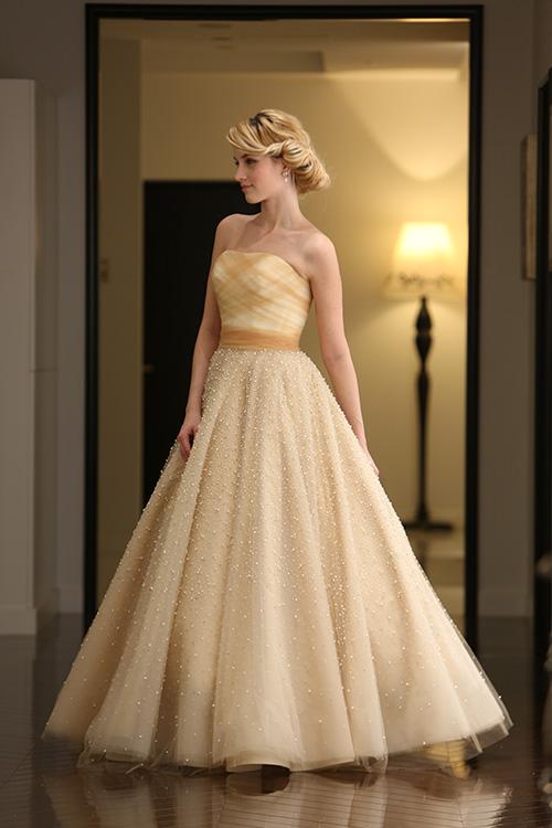 グランマニエのカラードレス ゴールドカラードレス ジュリアゴールド