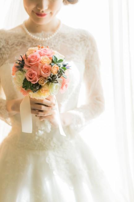 グランマニエのロングスリーブドレス|クラシカル|ミックスブーケ