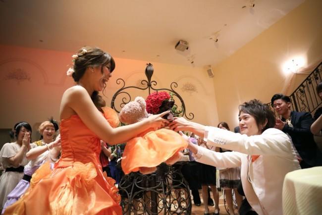 オレンジ|グランマニエのカラードレス