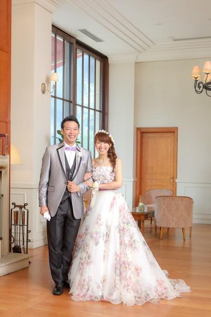 グランマニエのカラードレス|アストリッド|花柄ドレス