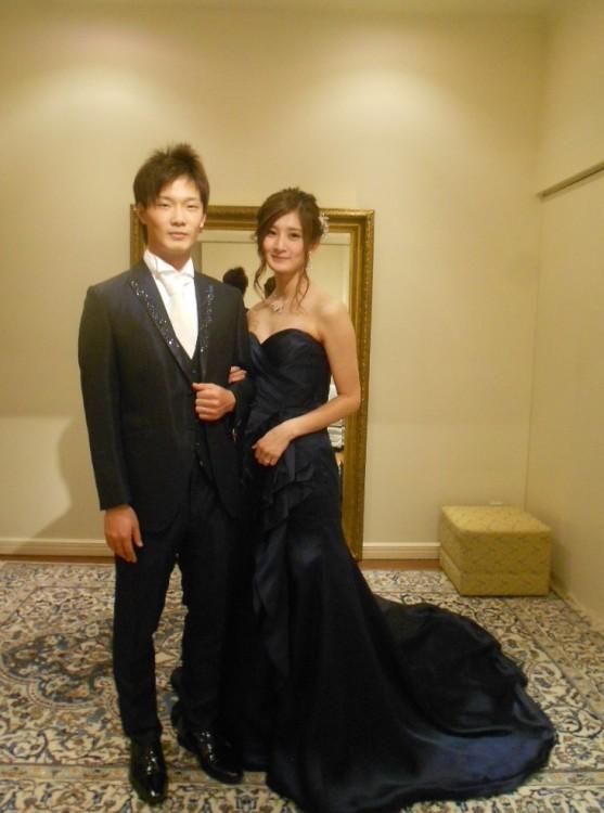 グランマニエのカラードレス|ネイビードレス