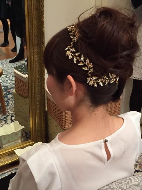 グランマニエのヘッドドレス|ゴールドリーフ