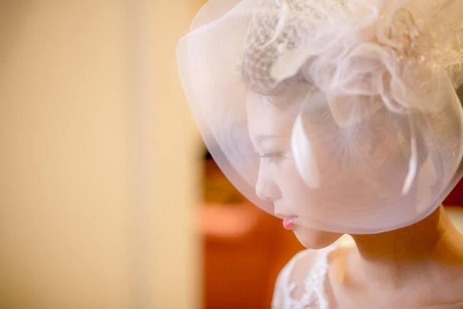 グランマニエのウエディングドレス|ヘッドドレス