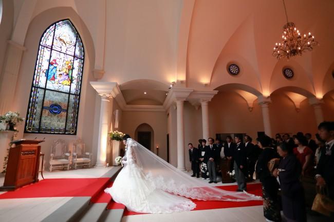 グランマニエのウエディングドレス|教会式