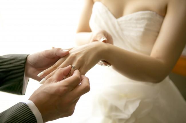 指輪交換|結婚指輪|新郎新婦