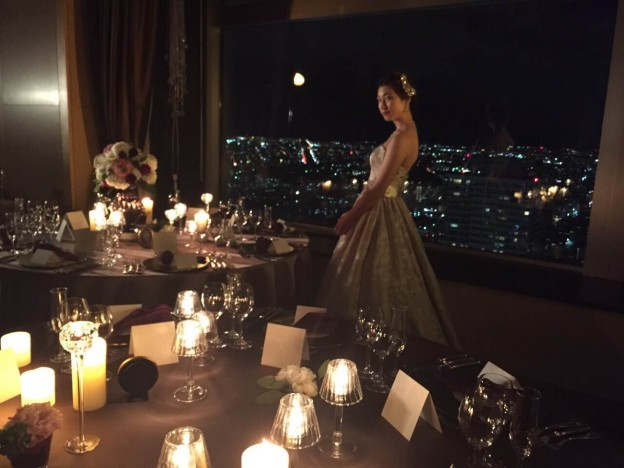 グランマニエのウエディングドレス撮影 JRタワー