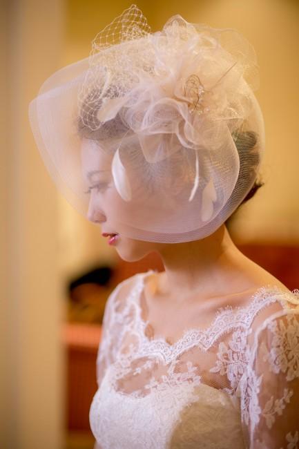 グランマニエのウエディングドレス ヘッドドレス