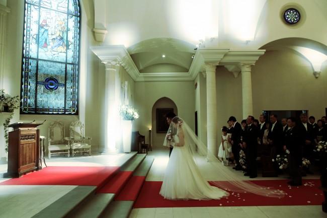 グランマニエのウエディングドレス ロングベール
