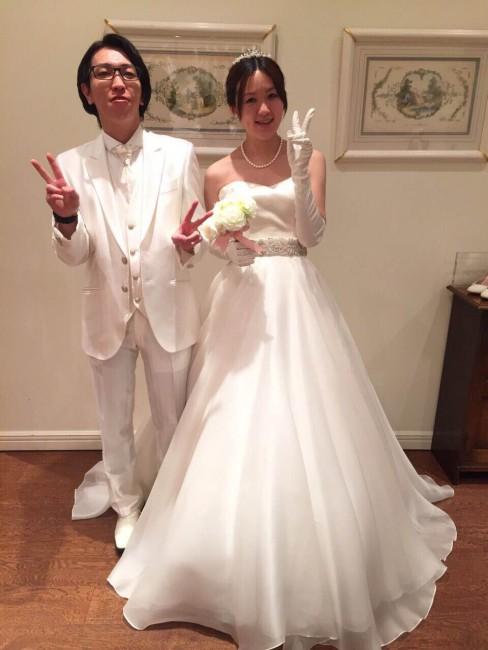 グランマニエのウエディングドレス|新郎新婦