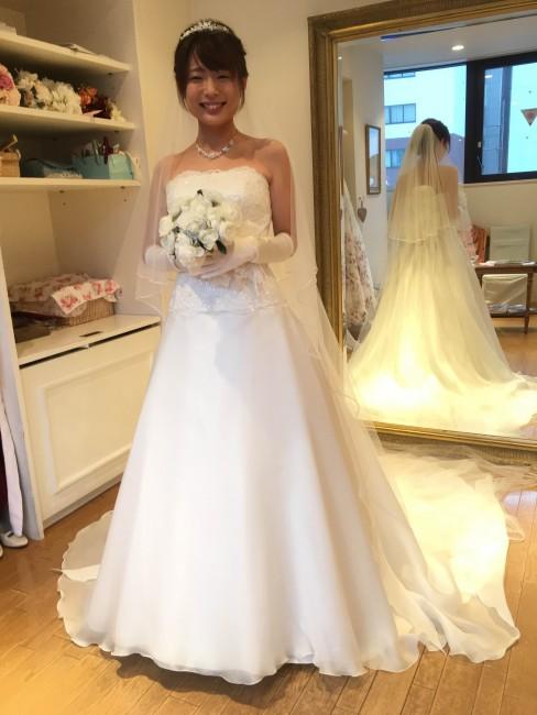 グランマニエのウエディングドレス|シャルロット|ヘアメイクリハーサル