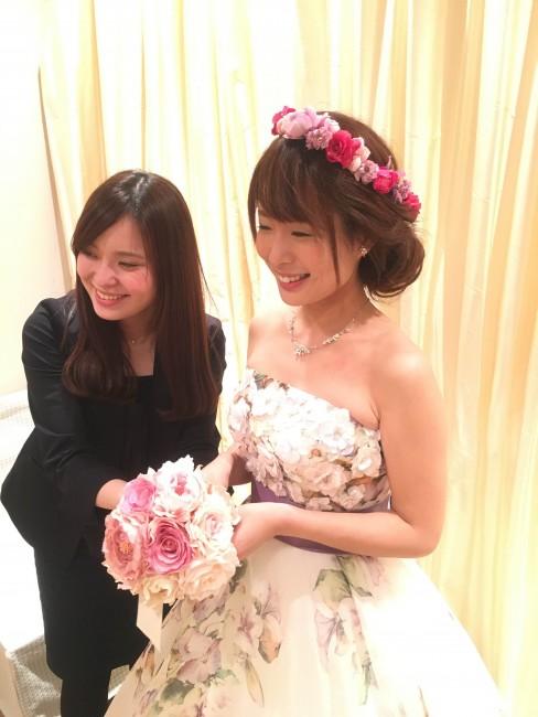 グランマニエのカラードレス|アストリッド|花柄