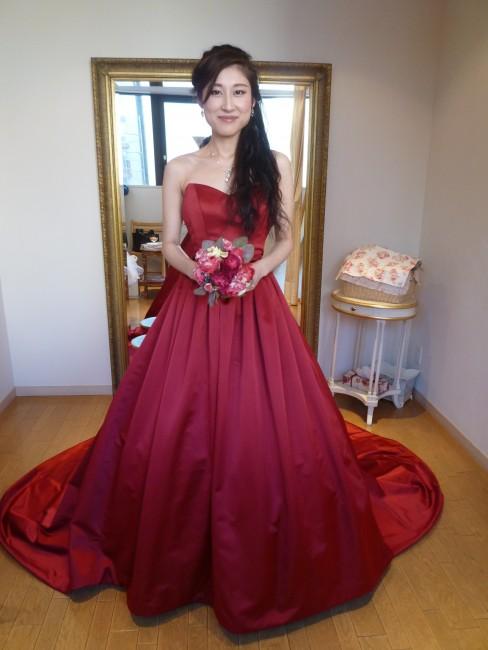 グランマニエのカラードレス|アドーレレッド