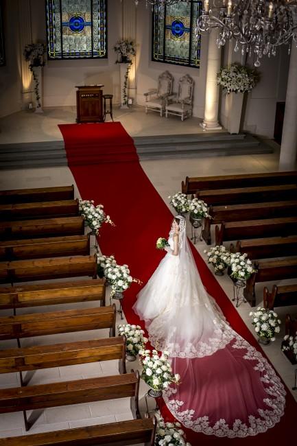 グランマニエのウエディングドレス|ロングベール