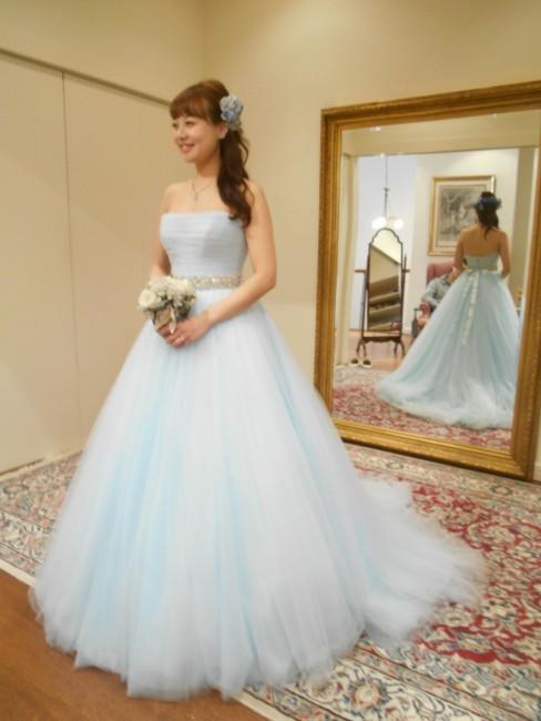 グランマニエカラードレス|ブルードレス