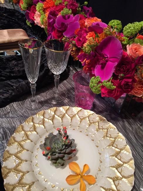 テーブルコーディネート コチョウラン 多肉植物
