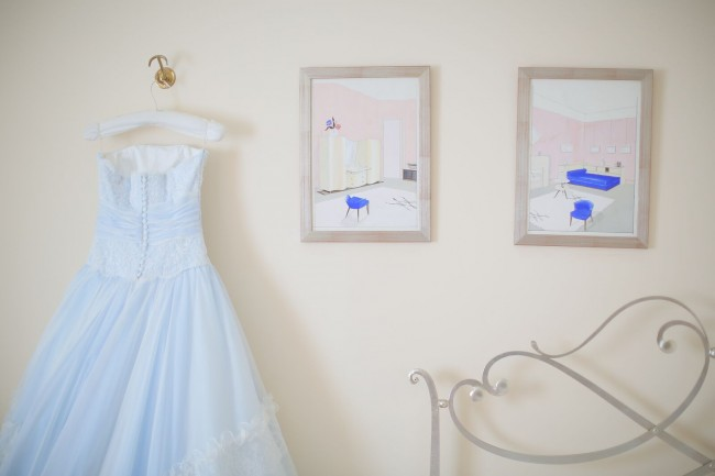 グランマニエのカラードレス|ブーケ|サムシングブルー