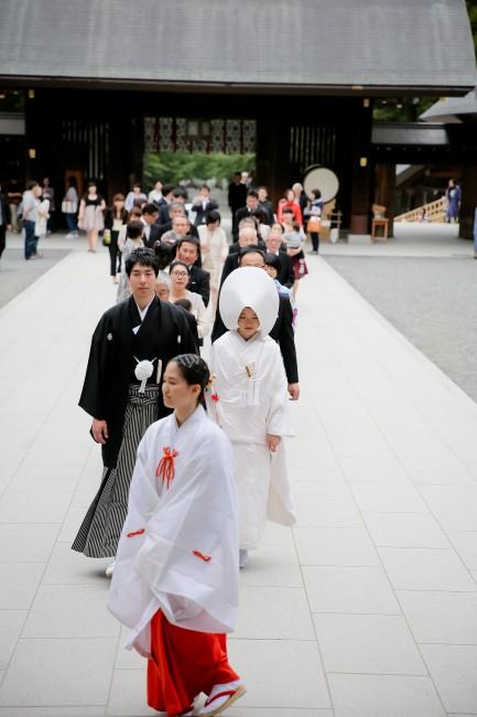 北海道神宮|白無垢|綿帽子|神前式