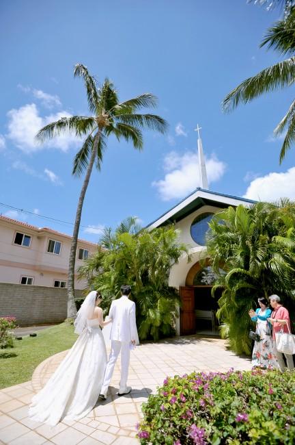 リゾート挙式|グランマニエのウエディングドレス|ハワイ挙式