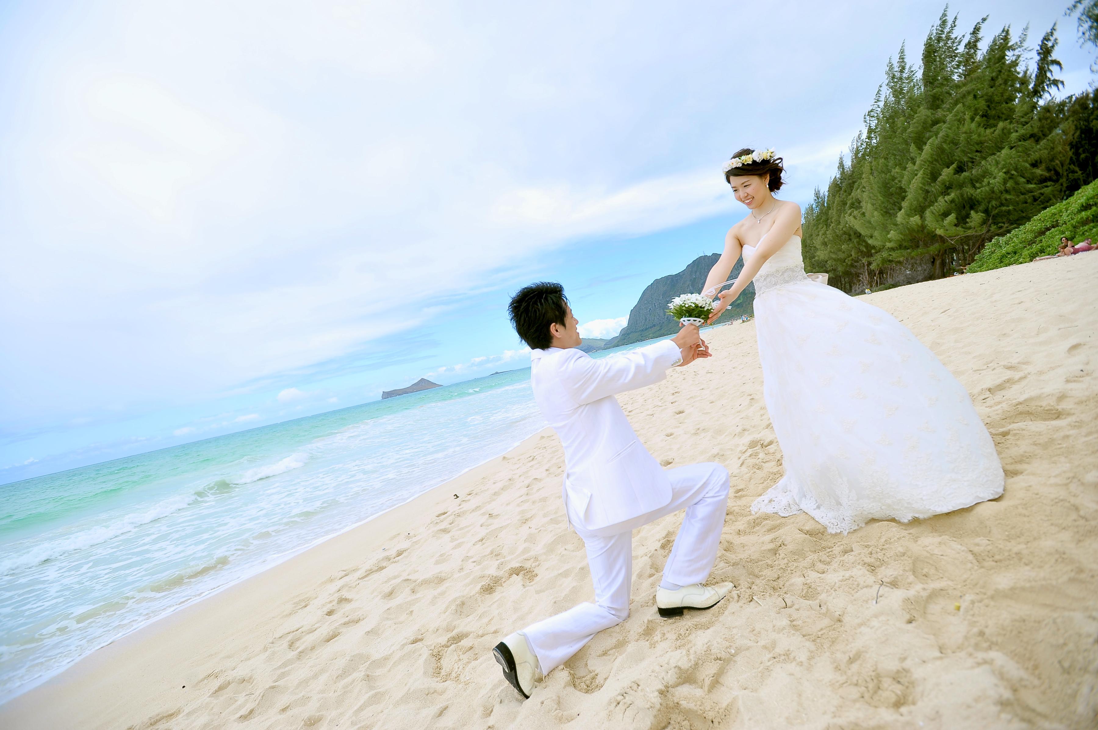 ロケフォト|ハワイ挙式|リゾートウエディング|ビーチフォト