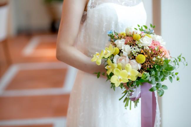 シャンペトルブーケ|グランマニエのウエディングドレス|ガーデンウエディング