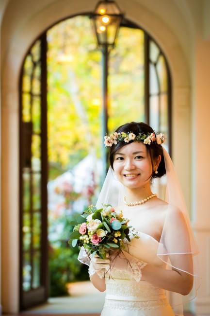 花かんむり|グランマニエのウエディングドレス|ブーケ