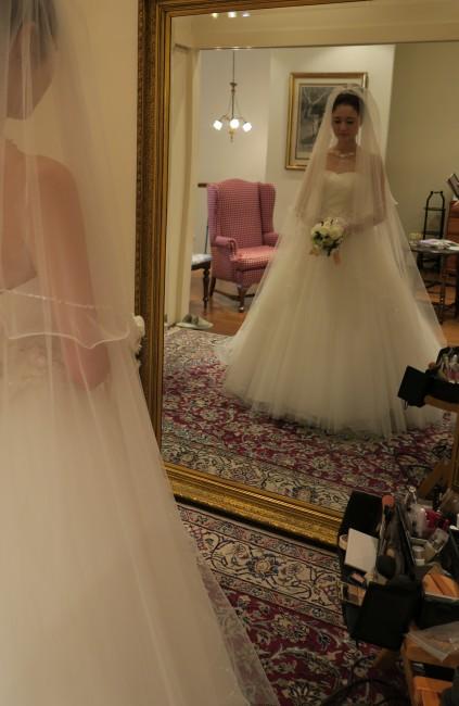 ヘアメイクリハーサル|ブリジッタ|グランマニエのウエディングドレス