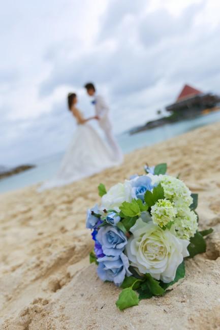 沖縄挙式|ロケフォト|ブーケ|リゾート挙式