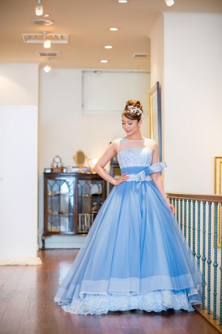 マリリンモンロー|ブルーのドレス|グランマニエのカラードレス