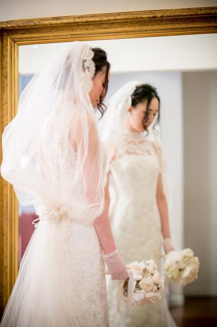 グランマニエのウエディングドレス|ビスカリア|ベール