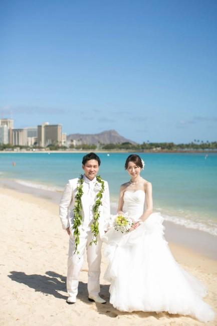 ロケーションフォト|ハワイ挙式|グランマニエのウエディングドレス|販売ドレス