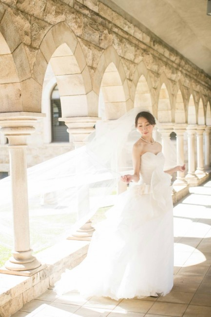 ベール|ロケーションフォト|グランマニエのウエディングドレス|リゾート婚