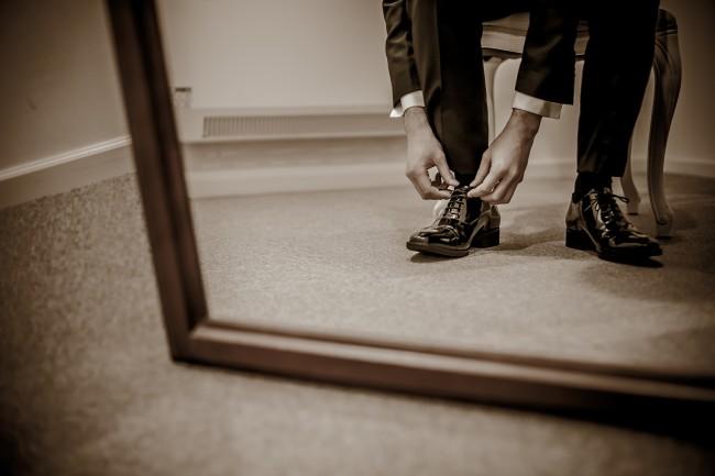グランマニエのウエディングドレス|メンズパンプス|エナメルシューズ|新郎の靴