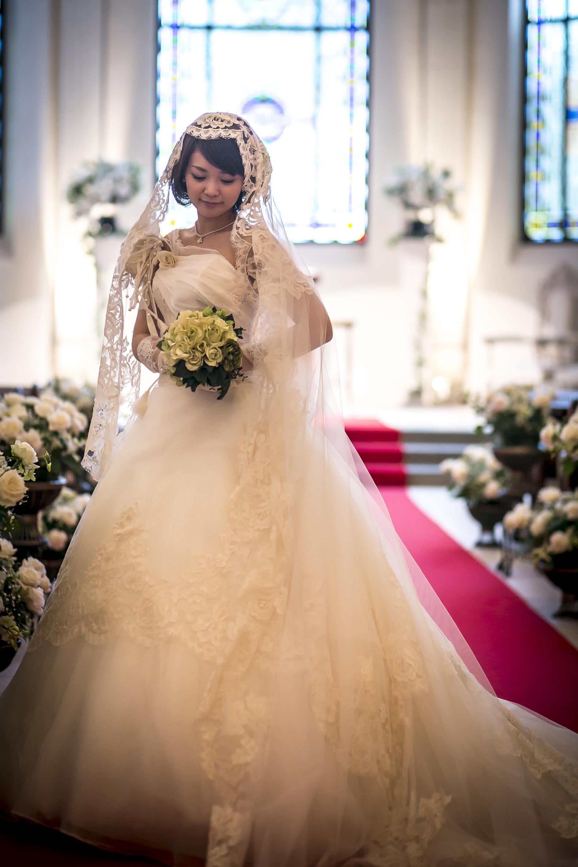 プリンセスライン|ベール|グランマニエのウエディングドレス
