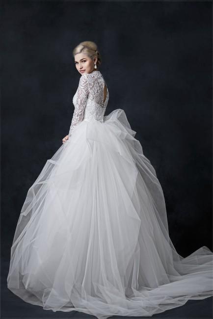 バランス|グランマニエのウエディングドレス|ボレロ|チュールのドレス